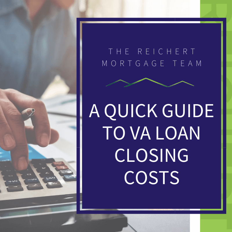 va loan closing costs featured image with man using calculator